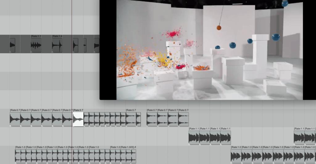 Neuvertonung eines Youtube-Videos ausschließlich mithilfe von gelayerten kurzen Sample-Loops